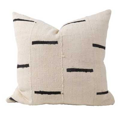RAINEY ONE OF A KIND MUDCLOTH PILLOW, IVORY - Lulu and Georgia