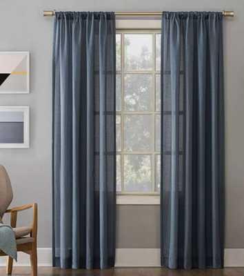 Linen Blend Textured Sheer Rod Pocket Curtain Panel - No. 918 - Target
