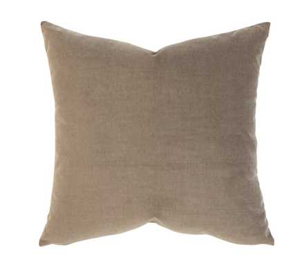 LYLA VELVET PILLOW COVER - LIGHT BROWN - McGee & Co.