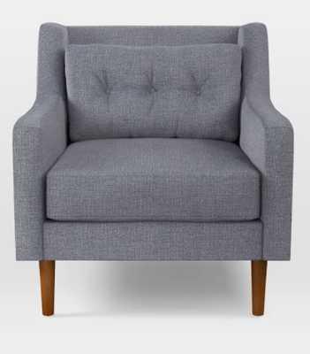 Crosby Mid-Century Armchair, Shelter Blue - West Elm