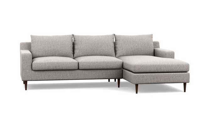 """SLOAN Sectional Sofa with Right Chaise - Earth 104"""" - Interior Define"""