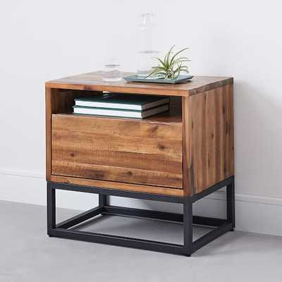 Logan Industrial Nightstand - Natural - West Elm