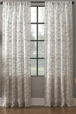 Jigsaw Embroidery Linen Blend Curtain - Archaeo - Target