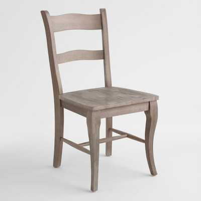Weathered Gray Wood Jozy Dining Chairs Set of 2 by World Market - World Market/Cost Plus