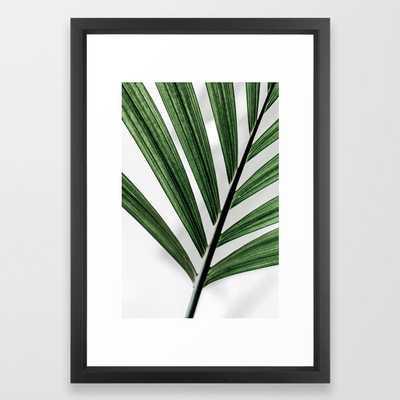 """Palm Leaves 13 Framed Art Print - Vector Black Frame - 15""""x21"""" - Society6"""