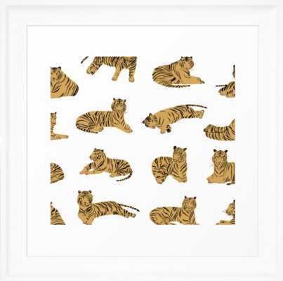 "Tigers Framed Art Print 12 x 12"" - Society6"