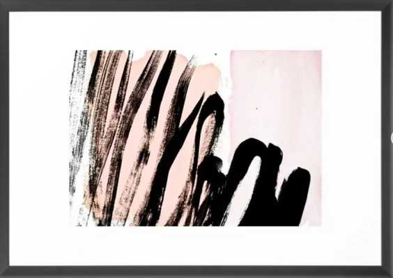strokes on blush Framed Art Print - Society6