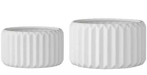 2pc Ceramic Flower Pot Set White - 3R Studios - Target