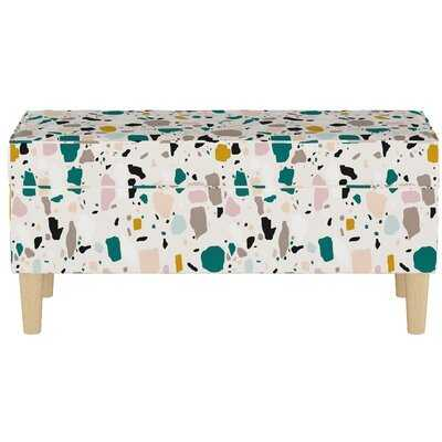 Storage Bench In Terrazzo Emerald Ochre - Wayfair