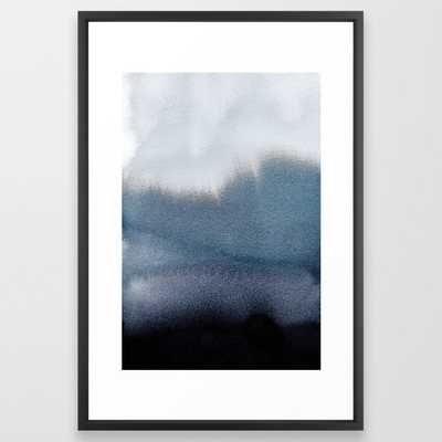 In Blue - FRAMED ART PRINT VECTOR BLACK, 26x38 - Society6