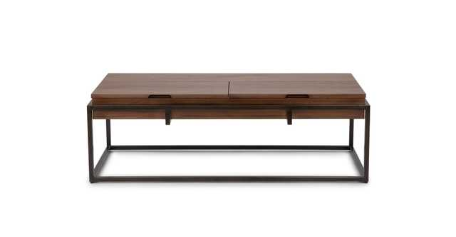 Oscuro Walnut Storage Coffee Table - Article