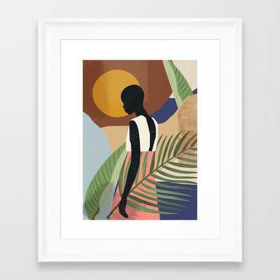 Tropical Girl 2 Framed Art Print by ThingDesign - Society6