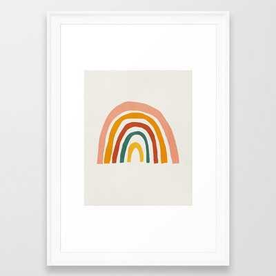 Rainbow, Mid century modern kids wall art, Nursery room Framed Art Print - Society6