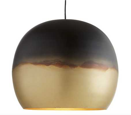 Elara Metal Globe Pendant Light - Crate and Barrel
