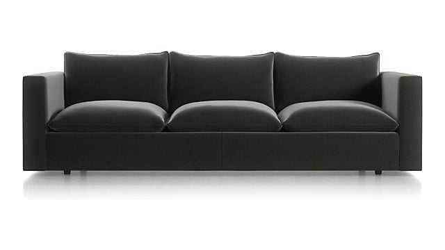 "Lotus 109"" Low Grande Sofa - Fabric:Variety Steel - Crate and Barrel"