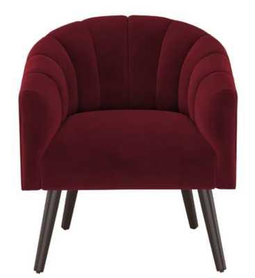 Modern Barrel Chair in Velvet - Project 62™ berry red - Target