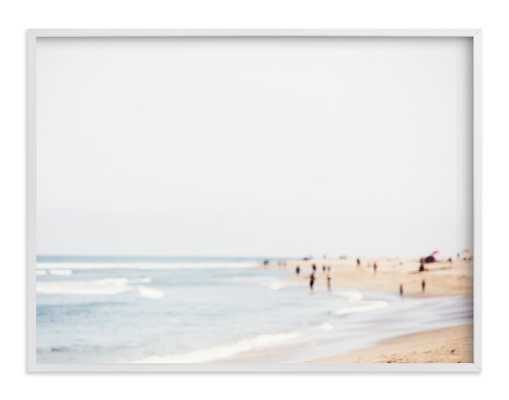"malibu - 40""x30"" - White Wood Frame - Minted"