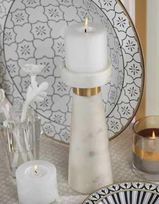 Pillar Stone Candlestick- Large - Wayfair