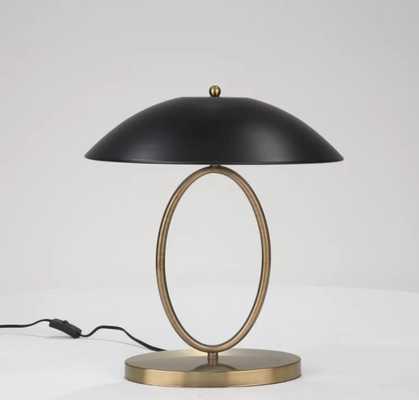 "Woodway Metal Open Oval 19"" Desk Lamp - Wayfair"