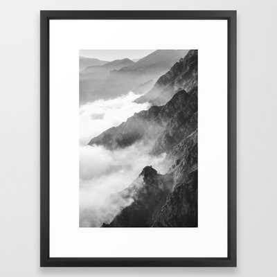"Mountains Framed Art Print, Vector Black, 20""x26"" - Society6"