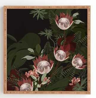 "LAVERGNE, 30"" X 30"" Bamboo Framed Print - Wander Print Co."
