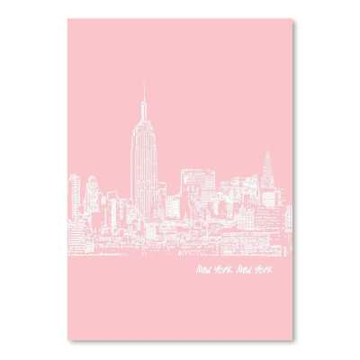 Skyline New York City 9 Graphic Art in Pink - Wayfair