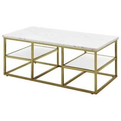 Cantu Marble Coffee Table - Wayfair