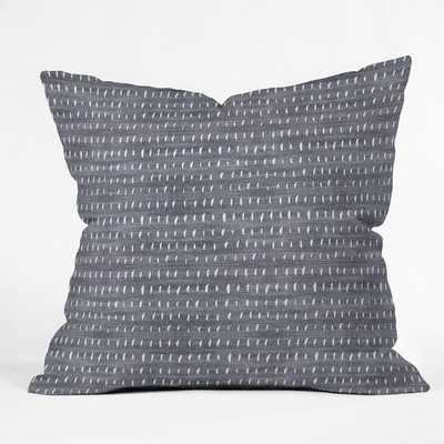 "BOGO DENIM RAIN LIGHT Throw Pillow - 20"" x 20"" - Pillow Cover Only - Wander Print Co."