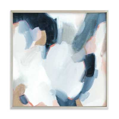 """Lush Composition -  30"""" X 30"""" - Wedgewood Blue - Champagne Silver Frame - No Mat - Minted"""