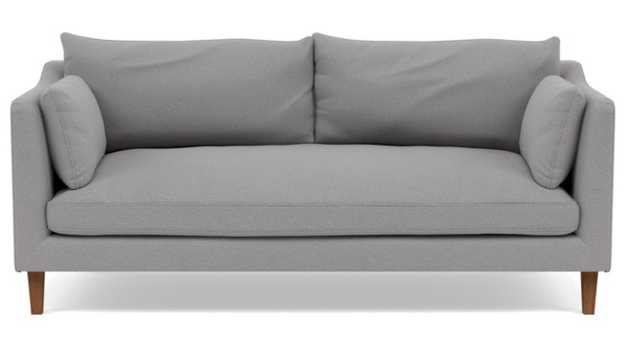 Caitlin by The Everygirl Sofa with Ash Fabric, Oiled Walnut legs, and Bench Cushion - Interior Define