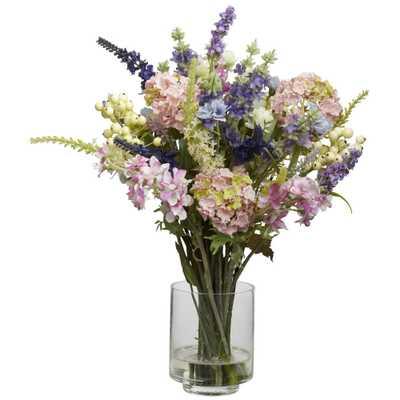 Lavender & Hydrangea Silk Flower Arrangement - Fiddle + Bloom