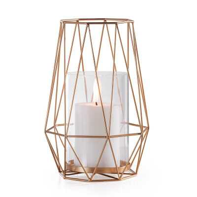 Diamond Deco Metal Candle Hurricane - Wayfair