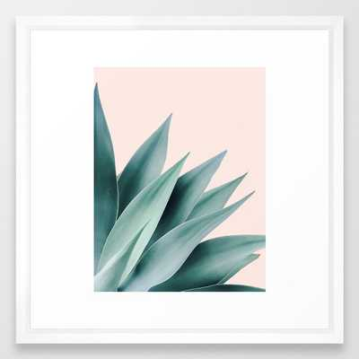 Agave flare II - peach Framed Art Print - Society6