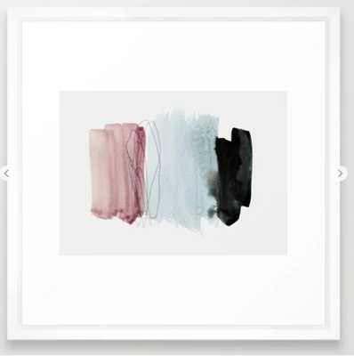 minimalism 1 - Vector White Frame 22x 22 - Society6