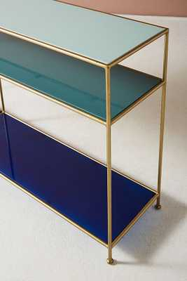 Tinted Glass Console Table - Anthropologie