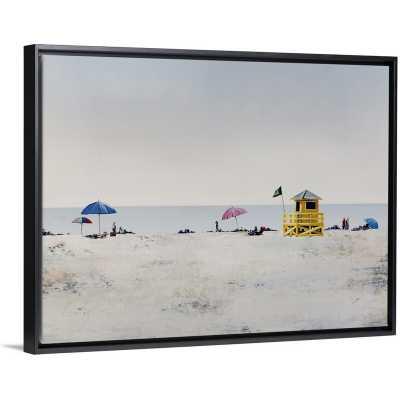"'Sun and Sand I' Painting on Canvas, Black Floater Frame, 31.7"" H x 41.7"" W x 1.75"" D - Wayfair"