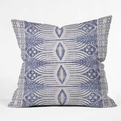 FRENCH LINEN TRIBAL IKAT Pillow with Insert - Wander Print Co.