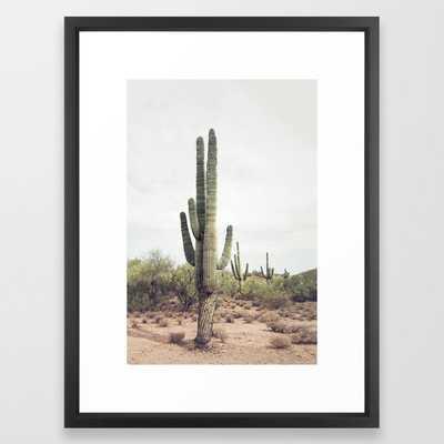 """Desert Cactus Framed Art Print, 20""""x 26"""" - Society6"""