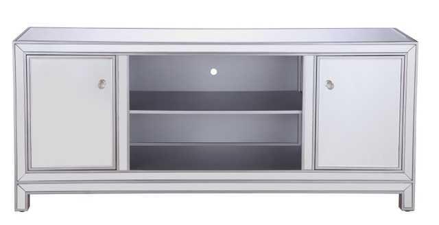Kenley Mirrored TV Stand - Wayfair