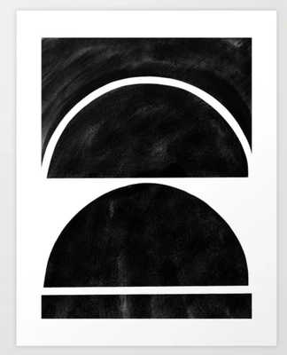 "black and white shapes Art Print - 13""x17"" - Society6"