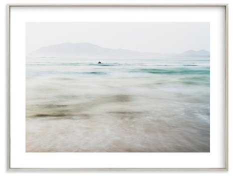 "The Pacific - 54"" x 40""_ champagne silver frame, white border - Minted"