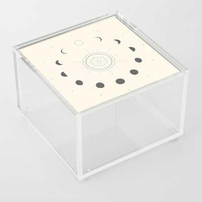 Moon Phases Light Acrylic Box by Nayla Smith - Society6