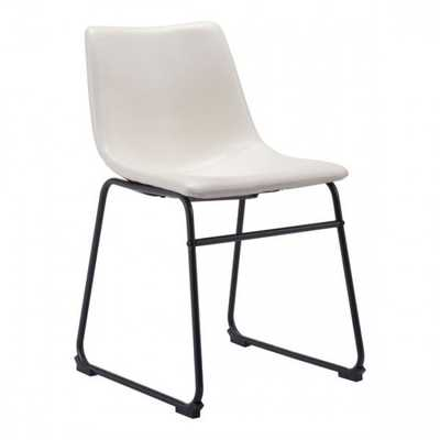 Smart Dining Chair Distressed White - Zuri Studios