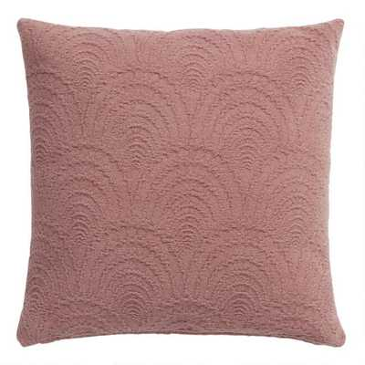 Rose Fan Jacquard Throw Pillow - World Market/Cost Plus