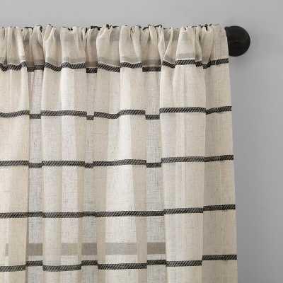 Twill Anti-Dust Striped Semi-Sheer Rod Pocket Single Curtain Panel - Wayfair