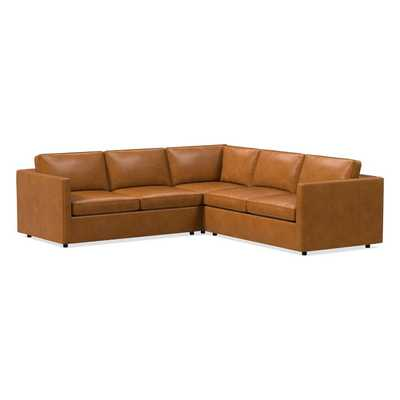 Harris Leather 3-Piece L-Shaped Sectional- Mace, Ludlow Leather - West Elm