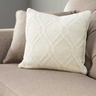 Newmanstown Cable Knit Throw Pillow - Wayfair