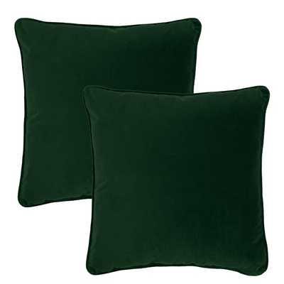 Green Goodall Velvet Throw Pillow (Set of 2) - Wayfair