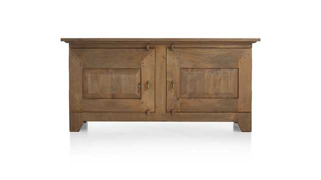 Basque Grey Wash Buffet - Crate and Barrel
