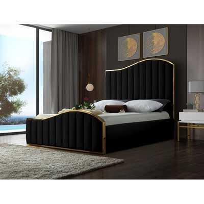 Wulff Velvet Upholstered Platform Bed - Wayfair